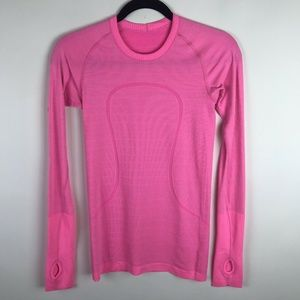 Lululemon Swiftly Tech Long Sleeve Top  Neon Pink